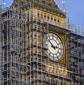 big ben under construction