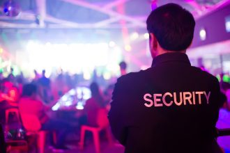security guard from behind