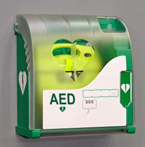 AED in cabinet