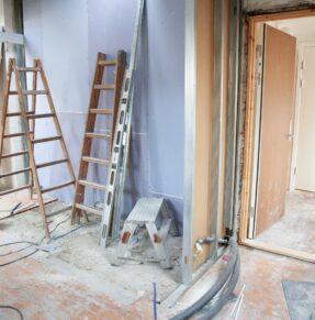 a house under renovation